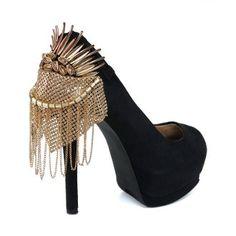 GaGa Gold Heel Condom Heel Condom Heel Accessory | Glamfoxx