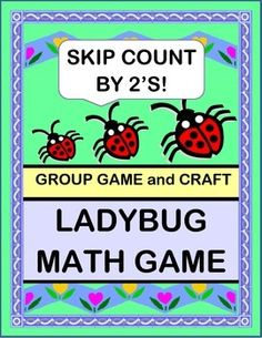 """ACTIVE MATH GROUP GAME for SKIP COUNTING BY 2'S! Make a LADYBUG CRAFT with the Template provided. Skip Count by 2's as you add more 'spots' to your Ladybugs! Chant a funny RHYME and sing an easy SONG. """"Ladybug, Ladybug, count your spots! You want to look good, so you need a lot!"""" (8 pages) From Joyful Noises Express TpT! $"""