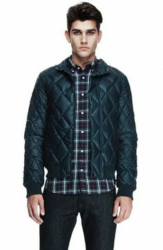 Diamond Quilted Jacket - Outerwear - Mens - Armani Exchange