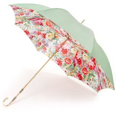 Floral Mint Deluxe Double Canopy Umbrella by Pasotti - Brolliesgalore