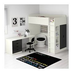 STUVA Parvikokonaisuus, 4 laatikkoa/2 ov, valkoinen, musta - 207x99x193 cm - IKEA