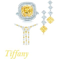 tiffany yellow, created by lisa-childers on Polyvore I so need this...