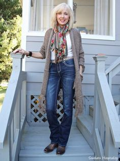 Fashion Over 50: Long Sweaters