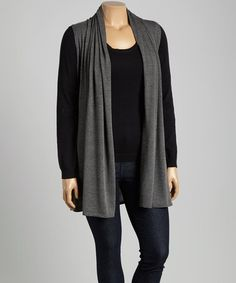 Look what I found on #zulily! Charcoal Vest - Plus #zulilyfinds