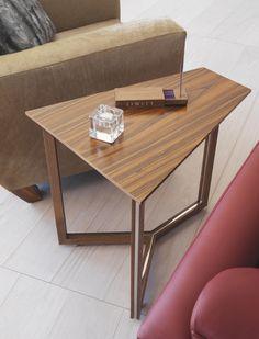 Luxury Chalet | Norman Foster | St Moritz | Switzerland | Ski Chalet | Bespoke Side Table #Table #Interior #Design #Home #Decor #LINLEY