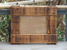 Bilderrahmen - Bilderrahmen Holz, 13x18, rustikal, dunkelbraun - ein Designerstück von Lichterwerk bei DaWanda