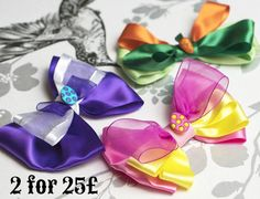 EASTER OFFER 2 FOR 25 On Luxury Easter Bow Ties! Offer lasts Till Easter or till stocks last! Remember you can still get it by Easter! Available NOW in our online shop http://ift.tt/1Ze3n25  All Easter Range is included: The Pink Egg Bow Tie is created from Luxurious bright pink and Yellow Satin ribbon! The Blue Egg Bow Tie is created from Luxurious sky blue and sunlight yellow Satin ribbons! The Purple Egg Bow Tie is created from Luxurious deep purple and pure white with silver sparkle…