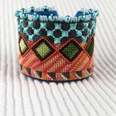 New needlepoint cuff kit, OCEAN CUFF by Orna Wiilis  https://www.etsy.com/shop/ADORNBYORNA