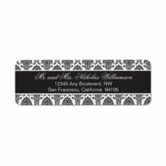 >>>Low Price Guarantee          Elegant Damask Return Address Label (black)           Elegant Damask Return Address Label (black) In our offer link above you will seeShopping          Elegant Damask Return Address Label (black) lowest price Fast Shipping and save your money Now!!...Cleck Hot Deals >>> http://www.zazzle.com/elegant_damask_return_address_label_black-106924825663829472?rf=238627982471231924&zbar=1&tc=terrest