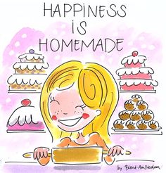 Happiness is homemade - by Blond-Amsterdam. Thxx dat ik het mocht pinten!:-)