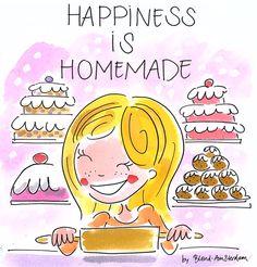 Happiness is homemade - by Blond-Amsterdam. Thxx dat ik het mocht pinten!:-)