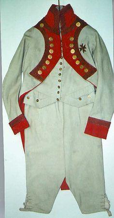 Naval Military uniform Date: early 19th century Culture: Italian Medium: wool Dimensions: (a) L. 41 in. (b) L. 32 in. (c) L. 23 in.