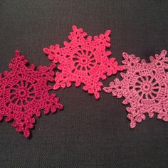 Coming soon, exciting new colour variations for crochet snowflake garlands...i cant make them quick enough!