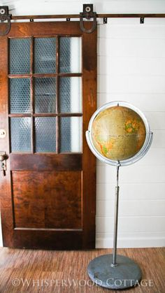 would love a globe like this to add to my collection.  wouldn't mind the great door, either.