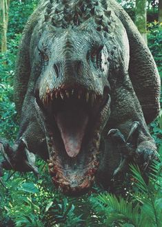 The Indominus Rex from Jurassic World. Indominus is a designed hybrid dinosaur with a base genome of a T-Rex, a hint of cuttlefish, a dash of tree frog, with just a pinch of. Jurassic World Park, Jurassic World Indominus Rex, Jurassic Park Series, Jurassic World Raptors, Michael Crichton, Jurassic Movies, Jurrassic Park, World Movies, Dinosaur Fossils