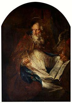 Saint Augustine by Michael Willmann, 1690s (PD-art/old), Klasztor Sióstr Urszulanek Unii Rzymskiej we Wrocławiu