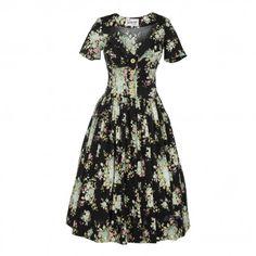 Weekender Dress mint roses by Lena Hoschek