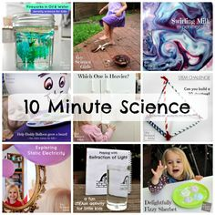 "Sometimes you need an activity, pronto! If you're looking for a boredom buster, check out our ""10 Minute Science"" activities – a bunch of fun science ideas that you can set up & do in 10 minutes or less…   10 Minute Science Ideas   Have you got a spare ten minutes? Which one are …"