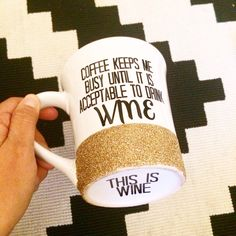 Personalized Coffee cup // Glitter Dipped Coffee Mug // Stoneware Coffee Mug // Personalized Coffee Mug by TwinkleTwinkleLilJar on Etsy https://www.etsy.com/listing/216157934/personalized-coffee-cup-glitter-dipped