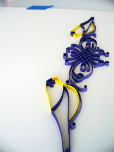 The Golden Rule Redux - by: erin casner, via Flickr - 2 birds perched on a design...sideways - very clean and pretty.