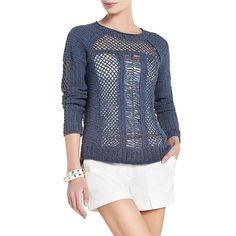 Bcbg Maxazria Lynx Open Stitch Crochet Sweater IWV1P136-480