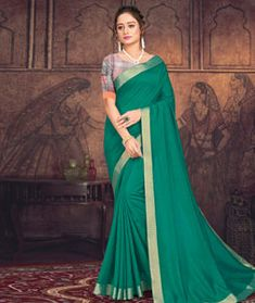 Chanderi Silk Chanderi Silk Saree, Silk Sarees, Long Cut, Blouse Online, How To Dye Fabric, Green Fabric, Color Shades, Sari, Collection