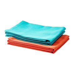 IRIS Tea towel, turquoise, orange