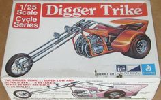 Mint Box MPC 1970 Digger Trike Custom Chopper Motorcycle 1 25 Vintage Model Kit | eBay
