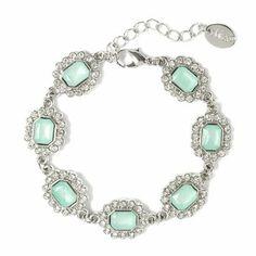 Make a sparkly statement: Square Gems Charm Bracelet #prettylittlepieces