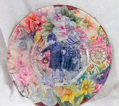 Decorative Plate Inspired By 1920's by GardenofPleasantries, $14.99