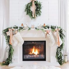 Think Peach - How To DIY Your Holiday Mantel - Photos
