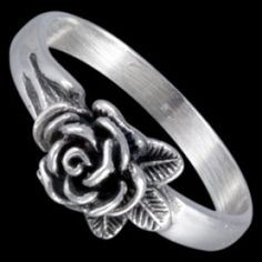 Sterling silver ring, rose