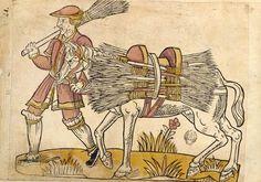 Le marchand de balais     Cris de Paris, vers 1500  BnF, Arsenal, Est. 264 Rés. pl. 21