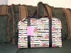 ❤☼ LUV BETSEY JOHNSON #FLORAL #STRIPE ROSES QUILTED #WEEKENDER /DUFFLE/TRAVE... Act http://j.mp/2vXJEO3