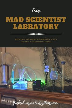Have fun while designing your own realistic mad scientist scene. No more fake Halloween props, you can create the real thing! Halloween Party Games, Couple Halloween Costumes, Holidays Halloween, Spooky Halloween, Halloween Themes, Halloween Crafts, Halloween Decorations, Halloween Tricks, Halloween 2016