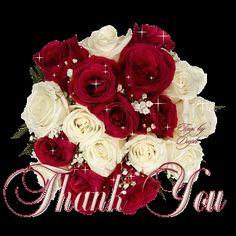 beautiful thank you glitter graphics | http://www.glitters123.com/thank-you/red-and-white-glittering-roses/