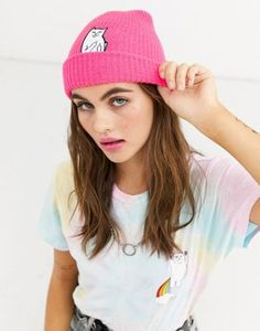 RIPNDIP Lord Nermal Rib Beanie in pink at ASOS. Shop this season's must haves with multiple delivery and return options (Ts&Cs apply). Rip N Dip, Head Wraps, Knitted Hats, Latest Trends, Asos, Winter Hats, Lord, Beanie, Knitting