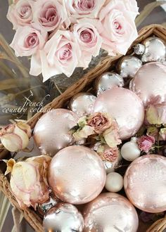 pink christmas #vintage #luxe