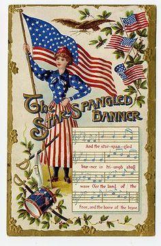 vintage patriotic post card