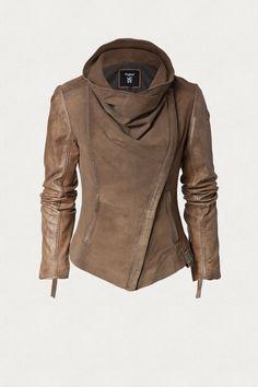 Deep Khaki Long Sleeve Casual Zipper Outerwear - Deep Khaki S Fashion Mode, Look Fashion, Fashion Outfits, Womens Fashion, Fashion Blouses, Fall Fashion, Fashion Tips, Mode Xl, Fall Outfits