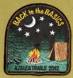 Girl Scout San Gorgonio 100th Anniversary year Back to Basics Camp Azalea Trails 2012 patch