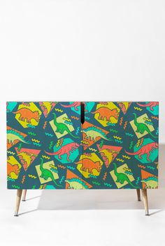 Chobopop 90s Dinosaur Pattern Credenza | DENY Designs Home Accessories
