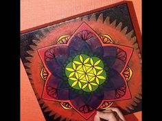 How to make a mandala with acrylics by mariquesart - http://go.shr.lc/1Tlb0VQ