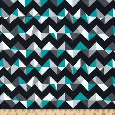 Fashionista Jersey Knit Geo Chevron Jade from @fabricdotcom  This polyester jersey knit fabric has a soft rayon-like hand, a fluid drape and about 50% stretch across the grain. This versatile fabric is perfect for creating stylish tops, tanks, gathered skirts and fuller dresses with a lining. Colors include black, white, jade green and grey.