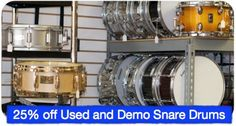 There's still time to take part in April's snare drum sale! Visit us today.