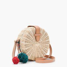 7bc92562cadf1 Circle straw crossbody bag Straw Handbags