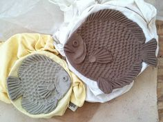 Pottery and Paint: More fish plates in progress