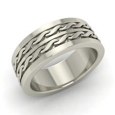 Chain Design Men's Wedding Anniversary Ring In 925 Sterling Silver Band #Gemsea #Band