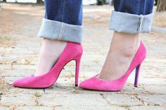love these hot pink shoes