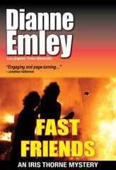 Diane Emley's murder mystery, Fast Friends, is a multi-layered tale woven of lies, family secrets, and misplaced loyalties.  The tale has more twists and turns than a snake's slither and just as much venom.  Weaving a web most spiders would be jealous of, Emley's tale covers the lives of two families entwined by close living, working, and their children's friendship.